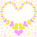 Heart frame mothers day card greeting with a in pink and yellow tones Stock Photo
