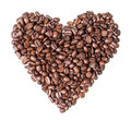 Heart fron coffee beans Royalty Free Stock Images