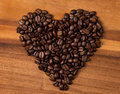 Heart fron coffee beans Stock Photo