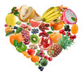 Heart fruits Stock Images