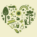 Heart gardening Stock Images