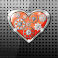 Heart with gears Stock Photo
