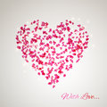 Heart from the gentle rose petals Royalty Free Stock Photography