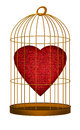 Heart in gilded cage - love, valentine concept Royalty Free Stock Image