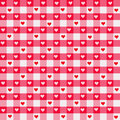 Heart Gingham Royalty Free Stock Photo