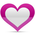 Heart glossy Royalty Free Stock Photography