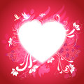 Heart with graphical story about love vector card design for congratulations Royalty Free Stock Photo