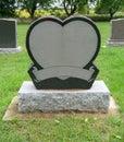 Heart Gravestone Royalty Free Stock Photo