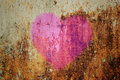 Heart on grunge wall Royalty Free Stock Photo