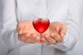 Heart in hands. Royalty Free Stock Image