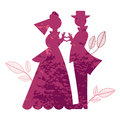 Heart hands bride and groom old fashioned are in the shape of a Royalty Free Stock Photo