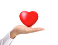 Heart in the hands isolated Royalty Free Stock Photos