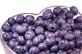 Heart-healthy Blaubeeren Stockfoto