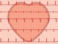 Heart and heartbeat electrocardiogram Stock Image