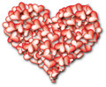 Heart of hearts red big assembled from small Royalty Free Stock Image