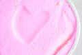 Heart ice-cream Royalty Free Stock Photo