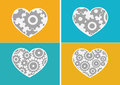 Heart icon and hearts symbol lines abstract idea design an images of Royalty Free Stock Images