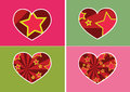 Heart icon and hearts symbol lines abstract idea design an images of Royalty Free Stock Photography