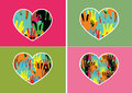 Heart icon and hearts symbol lines abstract idea design an images of Royalty Free Stock Image
