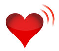 Heart Icon with RSS Sign Royalty Free Stock Photo