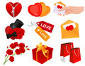 Heart icons Royalty Free Stock Photography