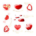 Heart icons collection Stock Images