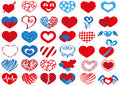 Heart icons image in shape on white background Stock Photo
