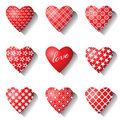 Heart icons set. Stock Image
