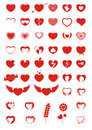 Heart Icons & Symbols Royalty Free Stock Photography