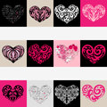 Heart illustration set. Love. Vector background. Royalty Free Stock Image
