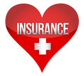 Heart insurence illustration design Royalty Free Stock Photos