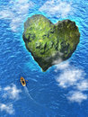 Heart island Stock Image