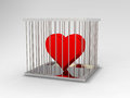 Heart In Jail Stock Photography