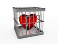 Heart  in jail Royalty Free Stock Image