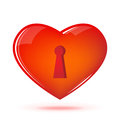 Heart with keyhole Royalty Free Stock Photo