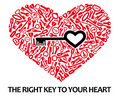 Heart_from_keys Royalty Free Stock Images