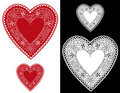 Heart Lace Doilies Royalty Free Stock Photo