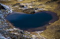 Picture : Heart lake, Andes, Bolivia   in