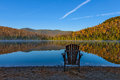Heart lake beautiful autumn view of in placid Royalty Free Stock Images