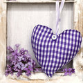 Heart and lilac Royalty Free Stock Photography