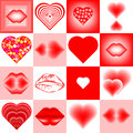 Heart and lips