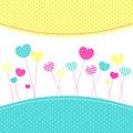 Heart Lollipops Frienship Greeting Card