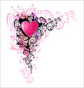 Heart of love. Corner Royalty Free Stock Image