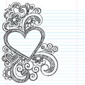 Heart Love Frame Sketchy Doodle Vector Design Royalty Free Stock Photography