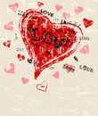 Heart And Love Greeting Card T...