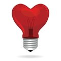 Heart love light bulb vector isolated object valentine s day background Royalty Free Stock Images