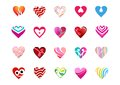 Heart love logo collection of hearts symbol icon vector design sign logos and Royalty Free Stock Photos