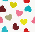 Heart love seamless pattern background. Vector illustration