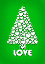 Heart love tree isolated on green Royalty Free Stock Images