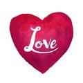 Heart love watercolor paint